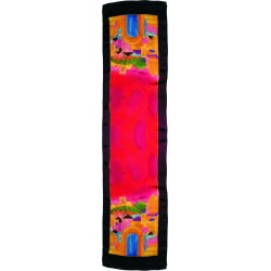 Tfilin Bag - Velvet + Embroidered Applique - Jerusalem Multicolor