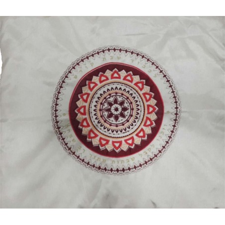Tfillin Bag - Machine Embroidery - Pomegranates - Blue