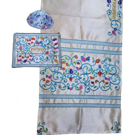 Tallit Bag - Machine Embroidery - Paper Cut - Brown