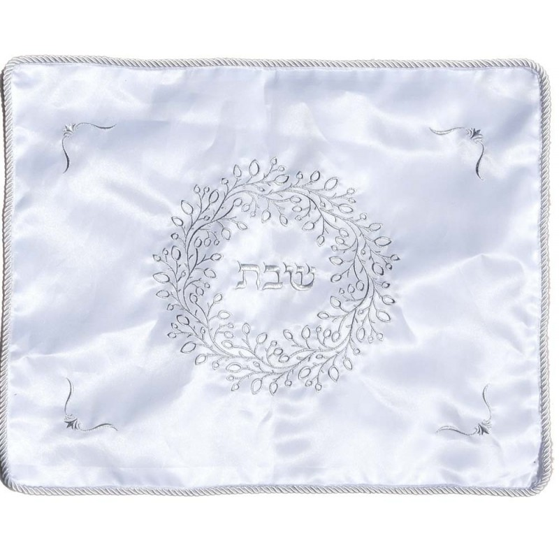 Tallit Bag - Machine Embroidery - Pomegranates - White
