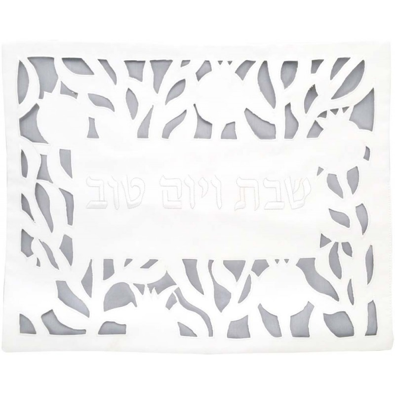 Tallit Bag - Machine Embroidery - 12 Tribes White