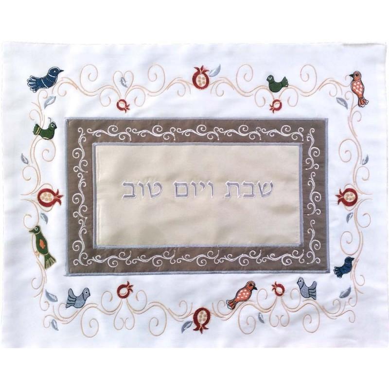 Tfilin Bag - Raw Silk - Jerusalem -Multicolor