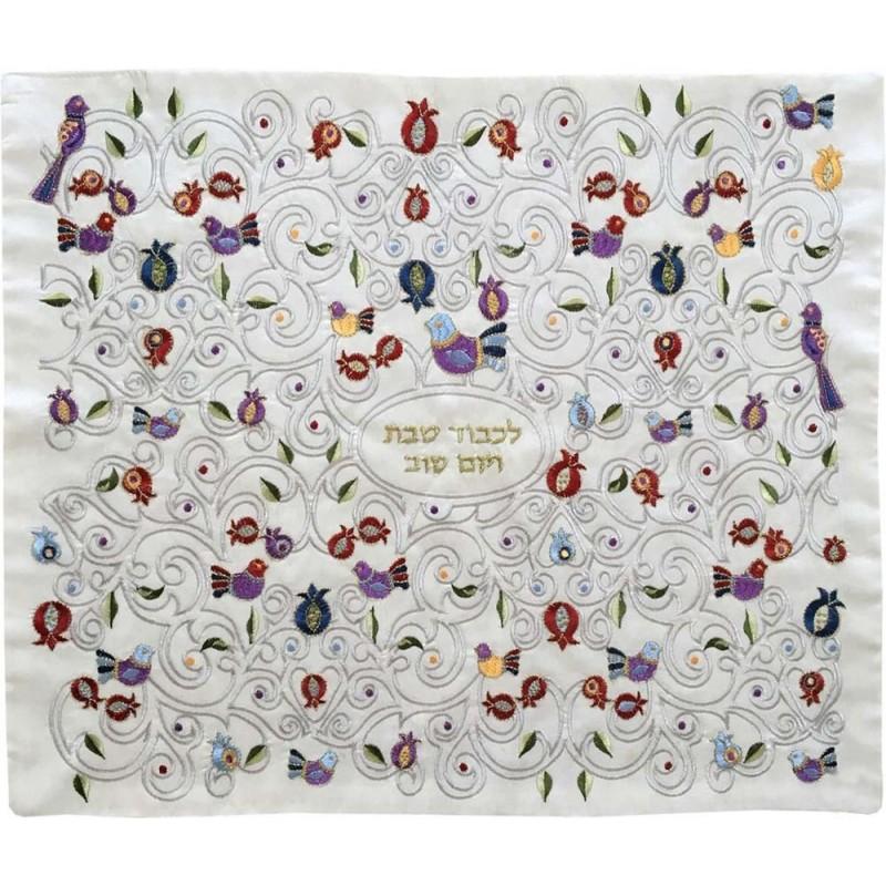 Afikoman Cover - Raw Silk Applique`d- Jerusalem