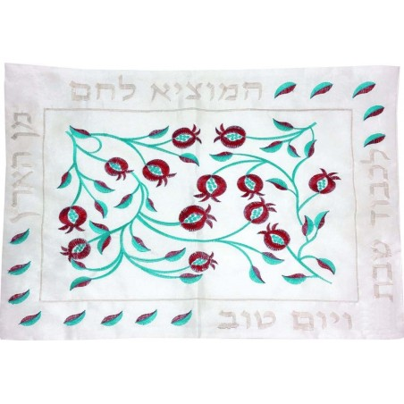 Afikoman Cover - Hand Embroidered - Jerusalem Blue