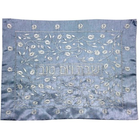 Afikoman Cover - Raw Silk Applique`d - Seven Species White