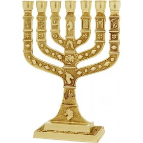 Menorah Knesset 35 cm Argent