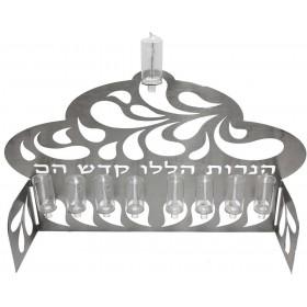 Chanukkiah Laser Wall Mounted