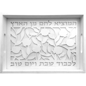 Challah Tray Wood Laser and Glass