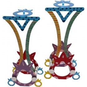 Candle Holders Pomegranate Hand Painted