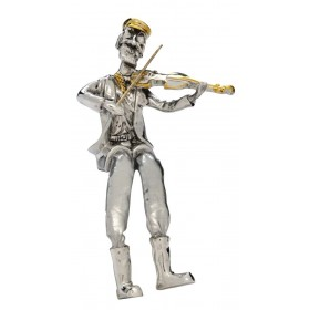 Violin player Seated Silver