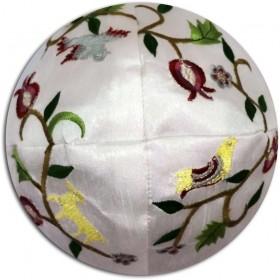 Kippah Pomegranate with Birds