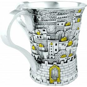 Wash Cup Jerusalem design 925 Argent