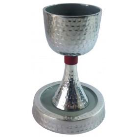 Kiddush Cup Enameled Hammered w/Enamel
