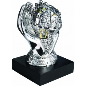 Hands w/Moving Ball Silver 925 Electroforming