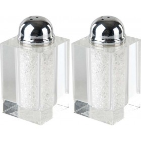 Salt & Pepper Set Crystal w/Sparkling