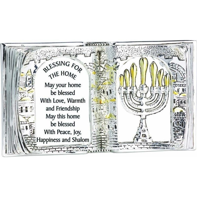 Book Shape Blessing English 925 Silver
