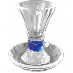 Kiddush Cup w/Coaster Crystal