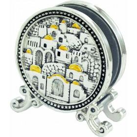 Napkin Holder Jerusalem Silver 925 Electroforming