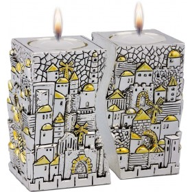 Candle Holders Jerusalem United Silver