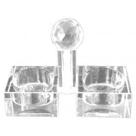 Salt & Pepper Square Crystal