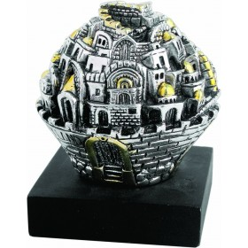 Jerusalem ball w/Base Silver 925 Electroforming