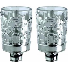 Necronym w/Glass Jerusalem Design Silver