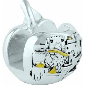 Porte-carte Apple Silver 925 Electroformage