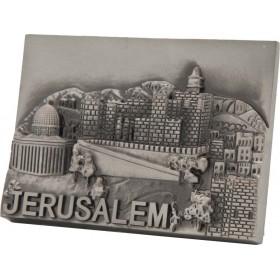 Magnet Jerusalem Pewter