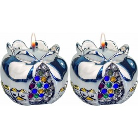 Candle Holders Pomegranate Silver 925 Electroforming