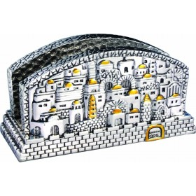 Card Holder Jerusalem Silver 925 Electroforming