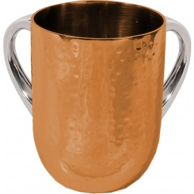 Netilat Yadayim Cup - Hammer Work - Gold
