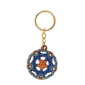 Key Chain Holder - Painted - Flower
