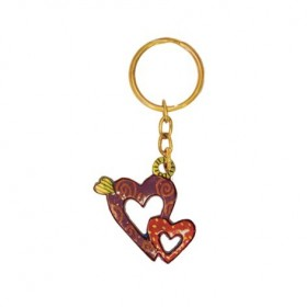 Key Chain Holder - Painted - Hearts
