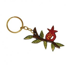 Key Chain Holder - Painted - Pomegranate