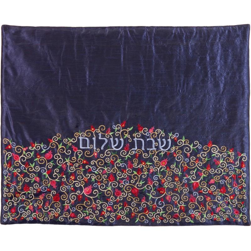 Plata Cover - Pomegranates-Multicolor on Blue