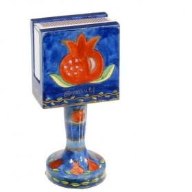 Matchbox Holder + Stand - Pomegranate