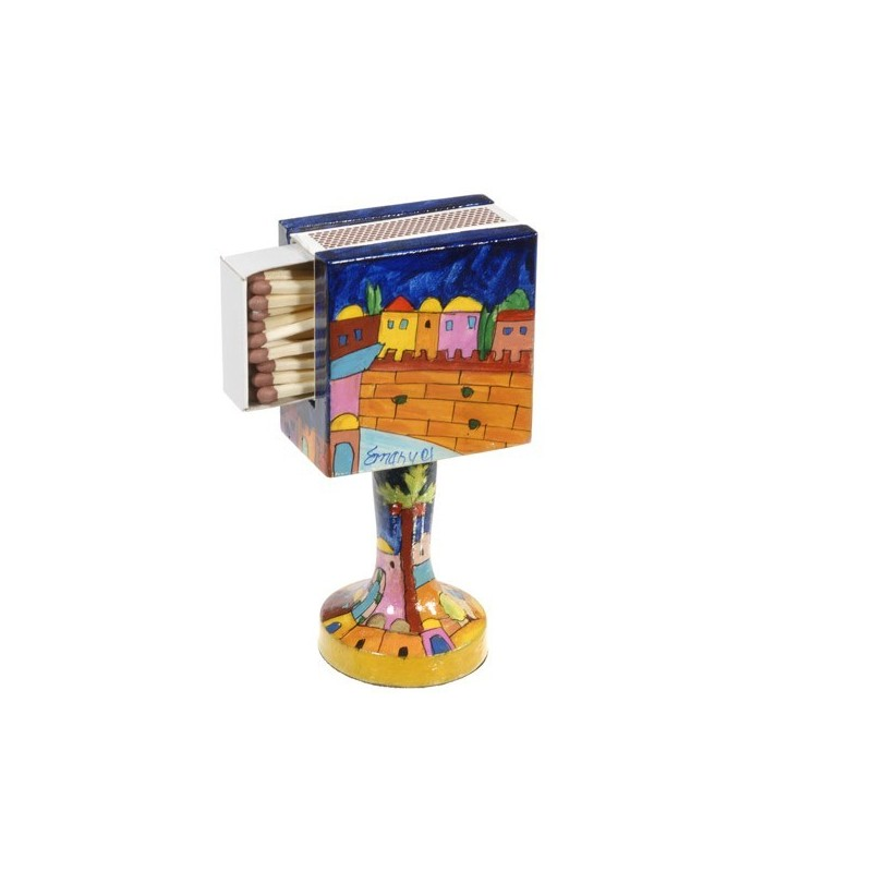 Matchbox Holder + Stand - Jerusalem