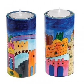 Big Round Candlesticks - Jerusalem