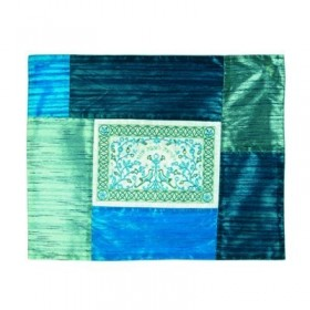 Challah Cover  - Matches Plata Cover - Paper Cut Out- Blue