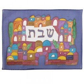 Silk - Painted Challah Cover- Armenian Jerusalem
