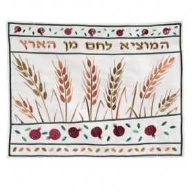 Machine Embroidered Challah Cover - Wheat