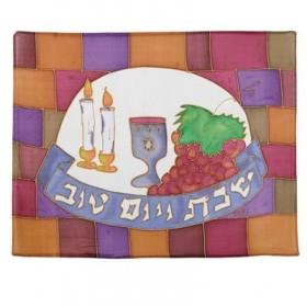 Soie - Couverture de Challah peinte - Le Mur occidental