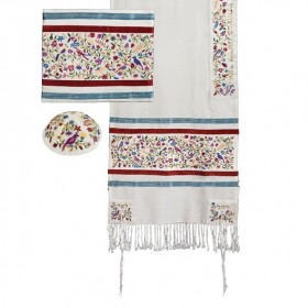Tallit - Full Embroidery - Matriarchs - Multicolor