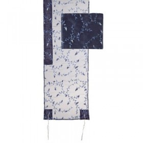 Tallit Organza - Full Embroidery - Blue