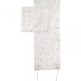Tallit Organza - Broderie complète - Blanc