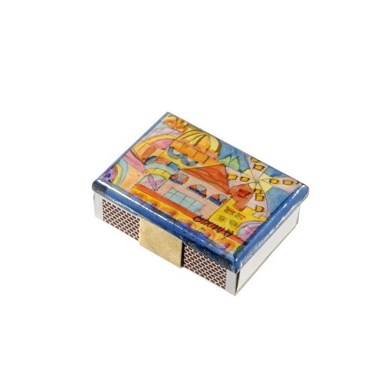 Match Box Holder - Small - Modern Jerusalem
