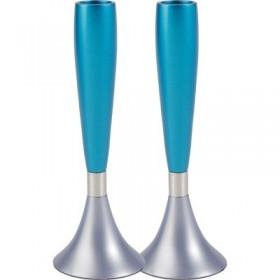Medium Candlesticks - Light blue + Turquoise