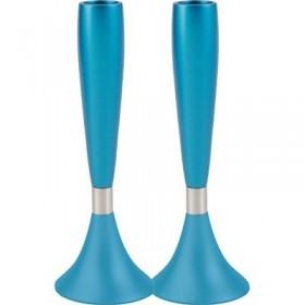 Medium Candlesticks - Turquoise
