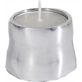 Single T-Light Holder - Shiny Aluminium