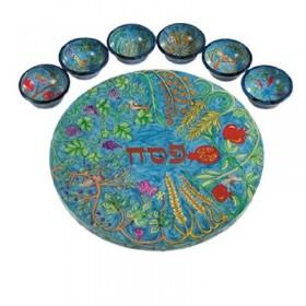 Seder Plate + Six Bowls - Seven Species